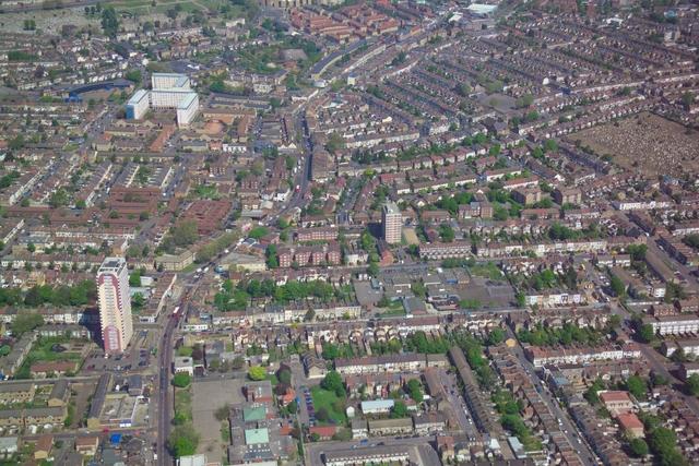 aerial photos  newham